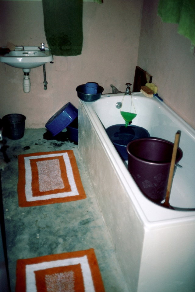 My Nigerian Bucket & Plunger with collected rain water