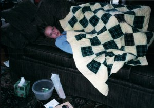 Aunt Ada Quilt Claire sick 2003