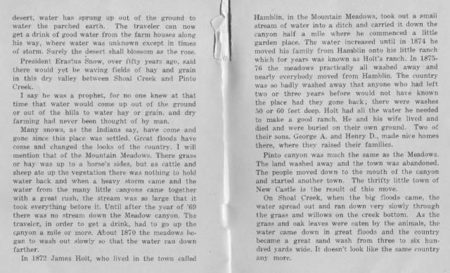James Holt, Holt's Ranch history