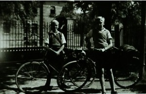 Wacker, Heinz and Walter with bikes