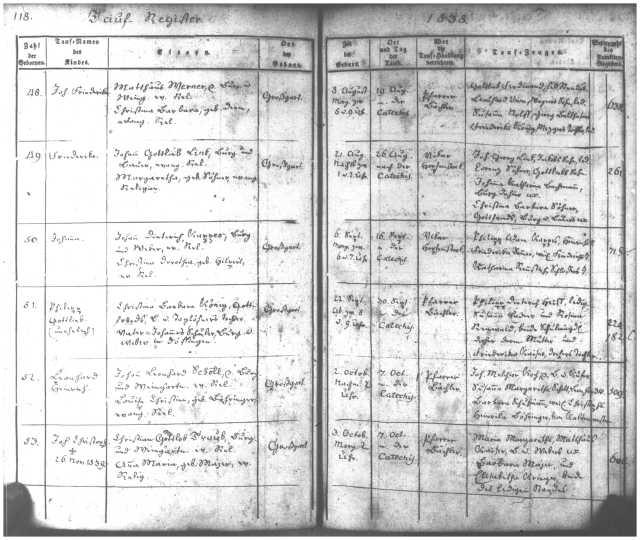 GGT Births 1838 p. 118