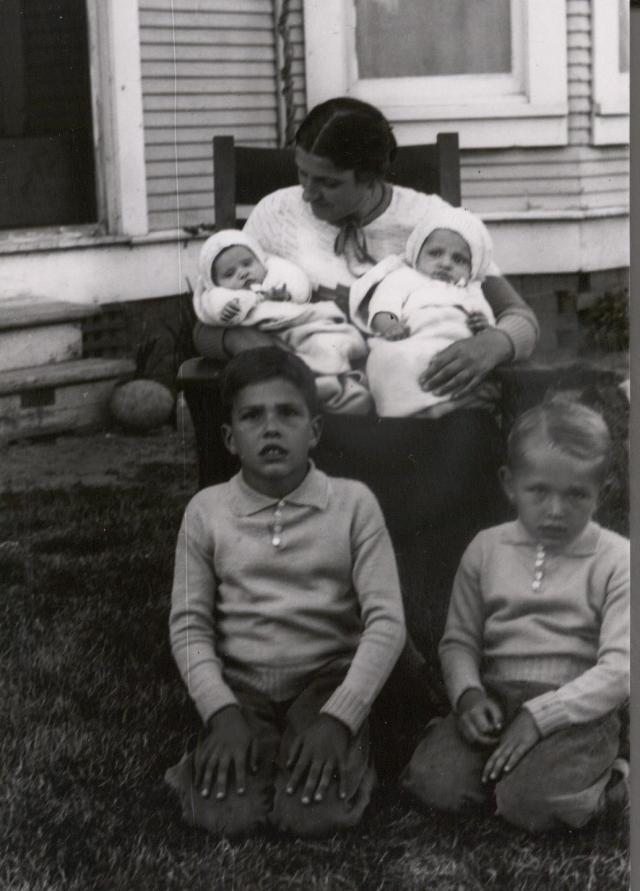 Laemmlens, Elsa with twins, Art, Henry