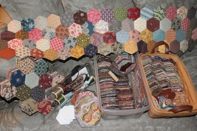 Quilt, Hexagons (2)