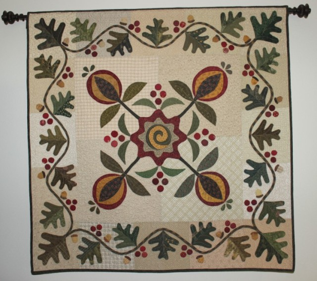 A storm is blowing in, time to get under a Fall Quilt! Ann's Words