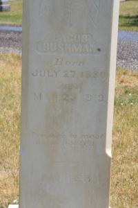 Bushman, Jacob & Charlotte headstone (2)