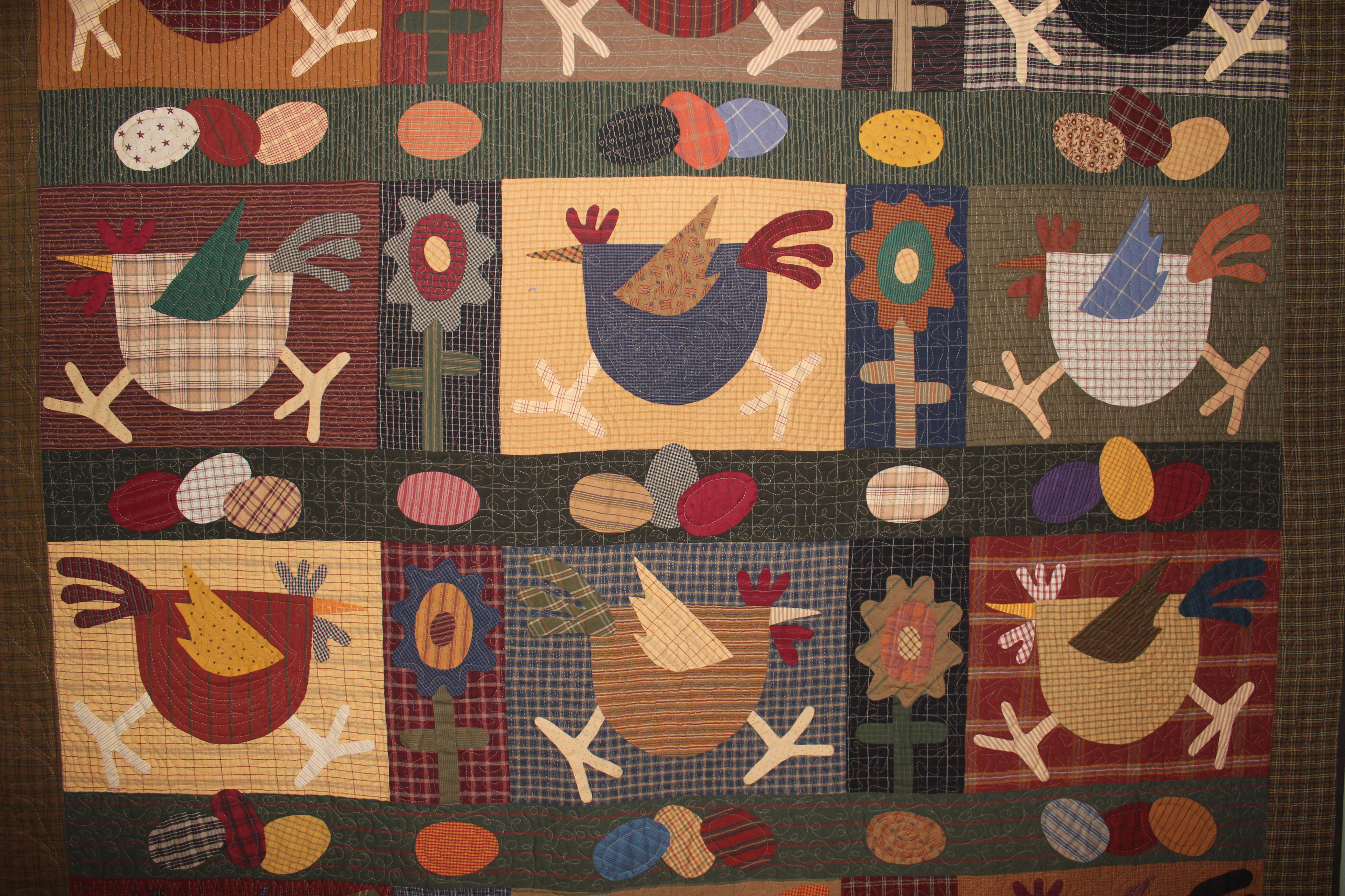 A Quilt or Two for November | Ann's Words : chicken quilt pattern - Adamdwight.com