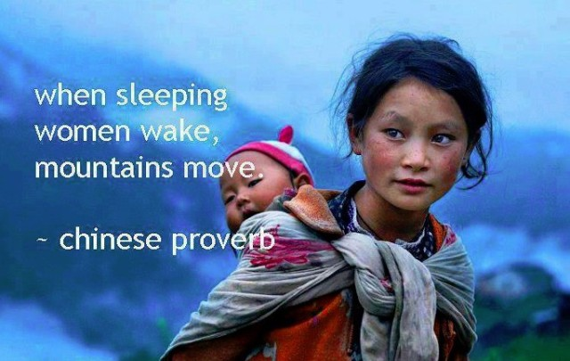When sleeping women wake