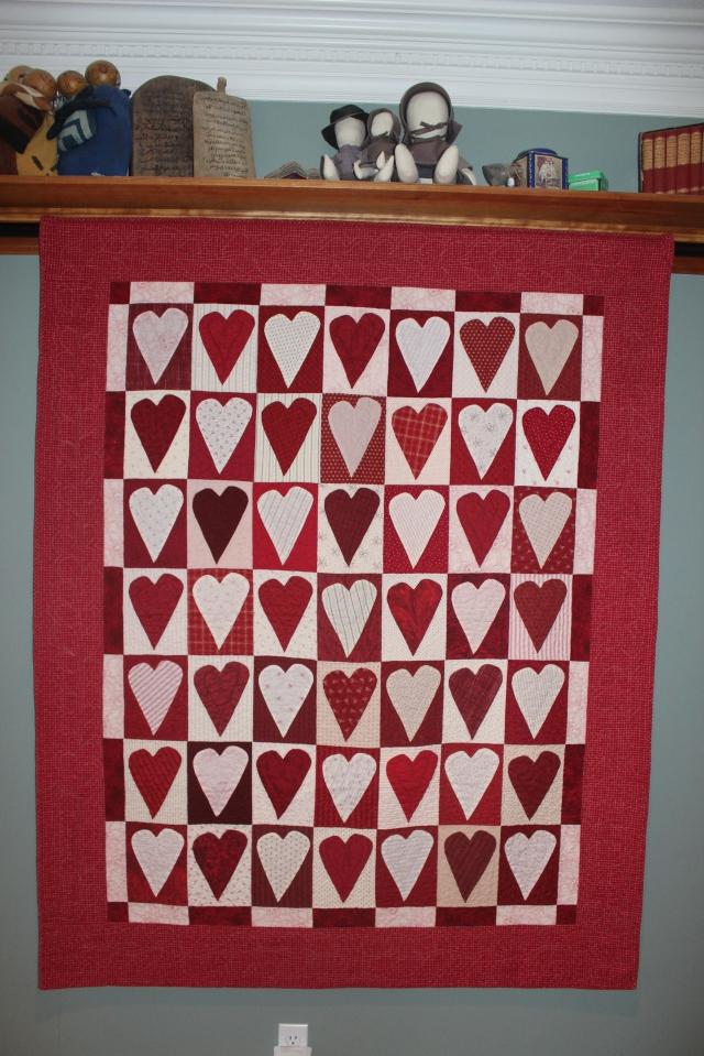Valentine Quilt, Ann Lewis