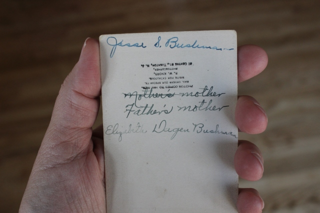 Bushman, Elizabeth Degen original back