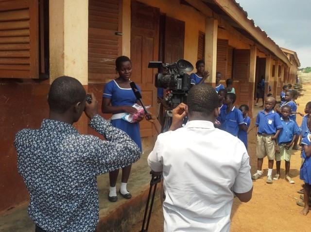 2014-07 Ghana Kits, TV Crew