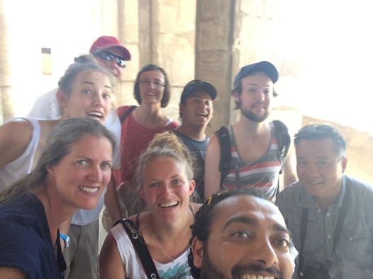 Egypt tour group with Semsem