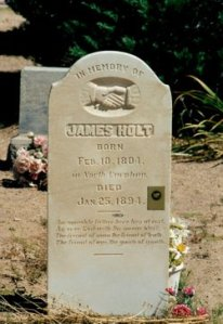 Holt, James Headstone, Holt's Ranch .