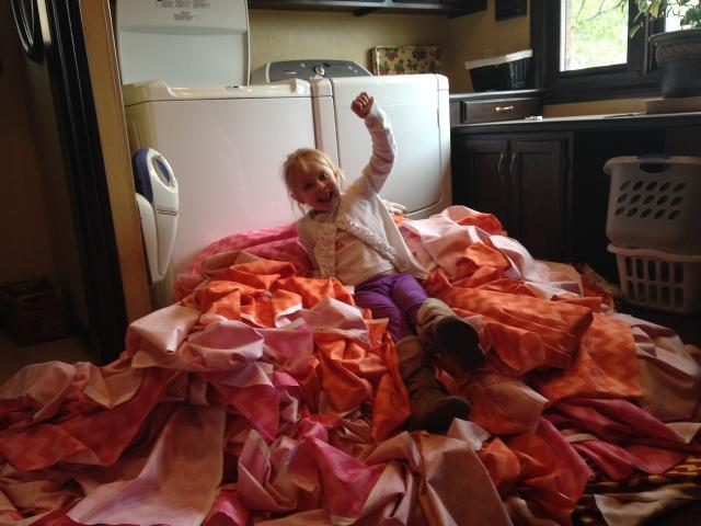2015-4-19 Washing Fabric, Lily