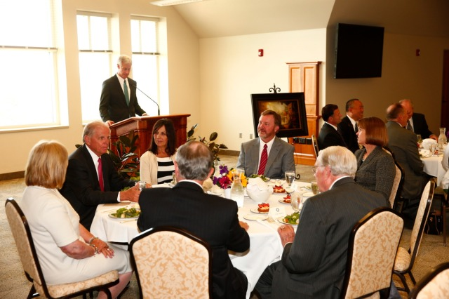 "1508-64 299 1508-64 Greg Olsen Painting Unveiling of Greg Olsen's new painting ""Treasures of Knowledge"" that will be displayed in the family room of the Gordon B. Hinckley Visitors and Alumni Center. The painting was commissioned by Leo and Annette Beus. August 19, 2015 Photo by Jaren Wilkey/BYU © BYU PHOTO 2015 All Rights Reserved photo@byu.edu  (801)422-7322"