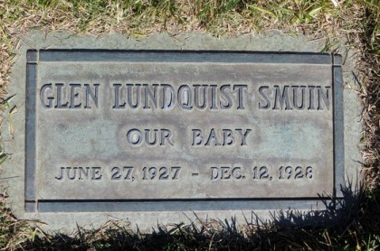Smuin, Glen headstone Forest Lawn LA