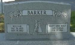 Holt, Mary Ann b. 1840 headstone