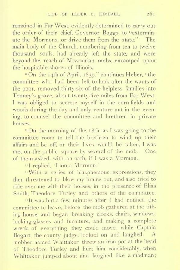 Heber C Kimball Life of p. 261