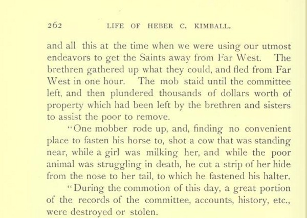 Heber C Kimball Life of p. 262