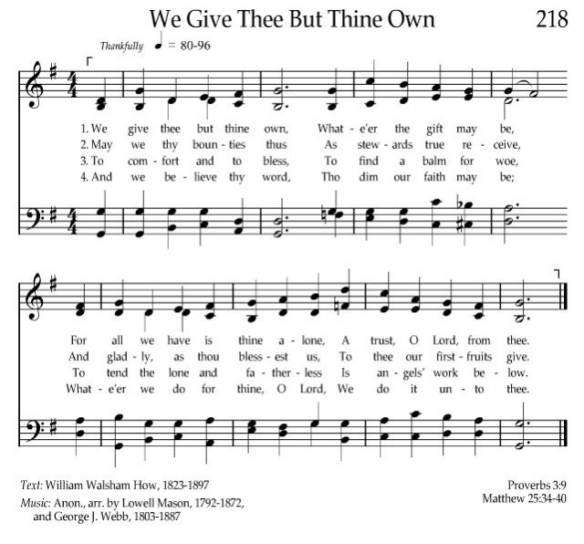 we-give-thee-but-thine-own