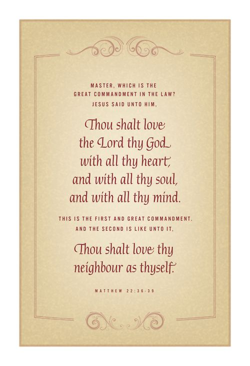 Greatest Commandment 1