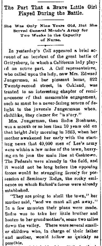 Bushman, Sadie Gettysburg paper 1