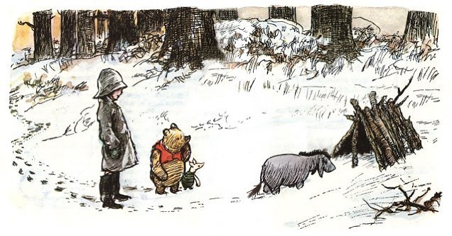 eeyore with pooh and christopher robin